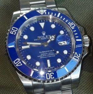 Men's Rolex Watch - Submariner Steel Blue